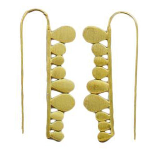 MELANIE WOODS - Fern Strip Hook Earrings - Gold