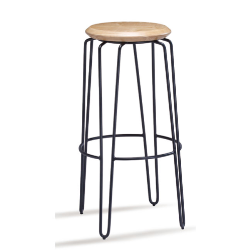 Olsen Stool - 75cm - Black/Natural