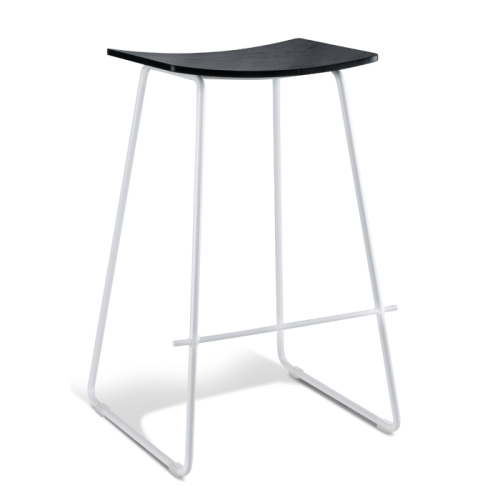 Chicago Bar Stool - White & Black