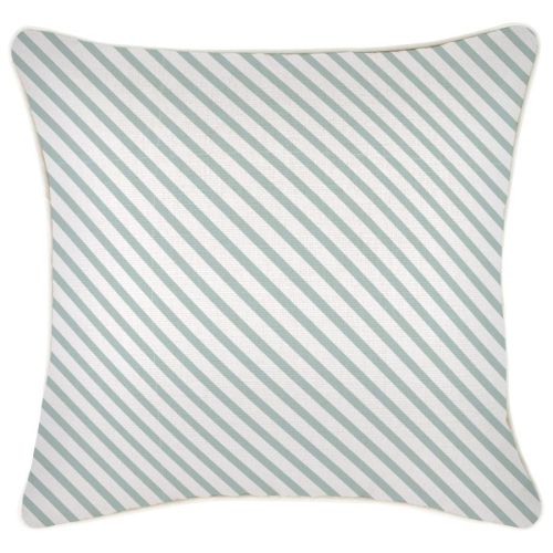 Alfresco Cushion - Side Stripe Seafoam with Piping