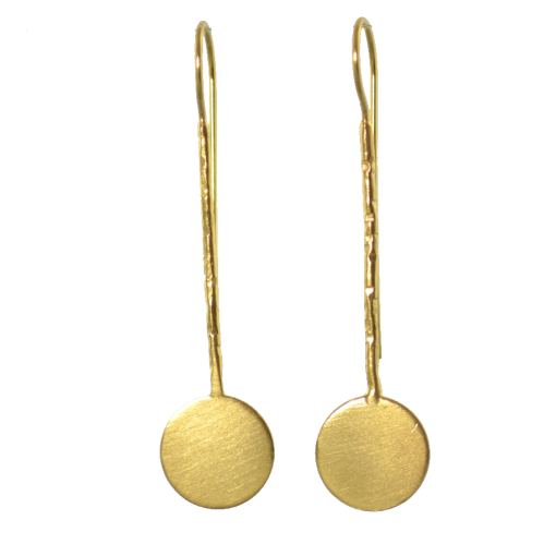 MELANIE WOODS - Long Disc Hook Earrings