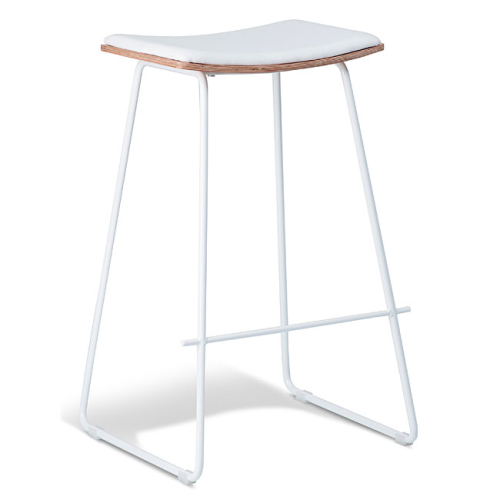 Chicago Bar Stool - White & Natural Oak
