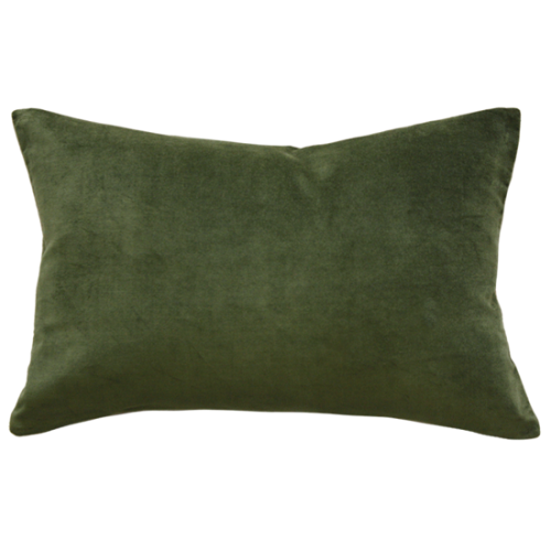 MULBERI Sovereign Cushion - Khaki Velvet - 35 x 50cm