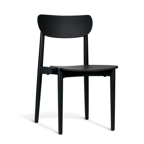 Dane Dining Chair - Black Scandinavian Dining Chair Rodwell and Astor