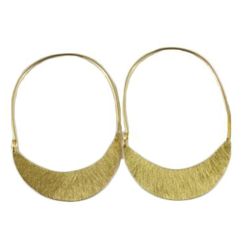 MELANIE WOODS - Low Crescent Hoop - Gold