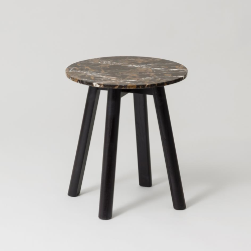 Enkel Marble Side Table - Deep Umber