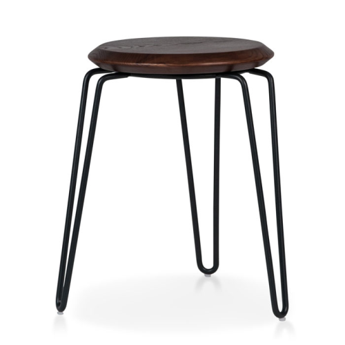 Olsen Stool - 45cm - Black/Walnut