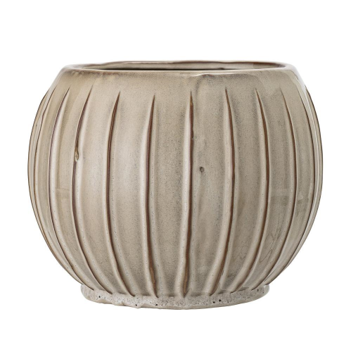 Bloomingville Ridged Flowerpot - Natural