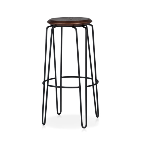 Olsen Stool - 75cm - Black/Walnut