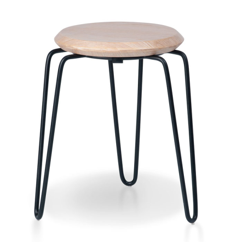 Olsen Stool - 45cm - Black/Natural