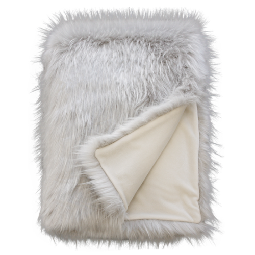 Heirloom Faux Fur Throw - Greenland Wolf