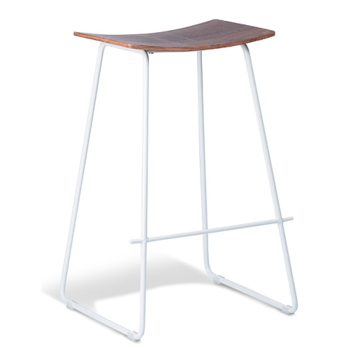 Chicago Bar Stool - White & Walnut