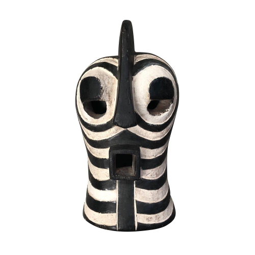 Black and White Songwe Mask on stand