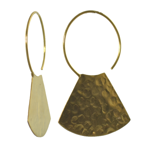 MELANIE WOODS - Hammered Fan Earrings