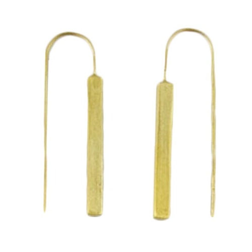 MELANIE WOODS - Long Rectangle Drop Earrings