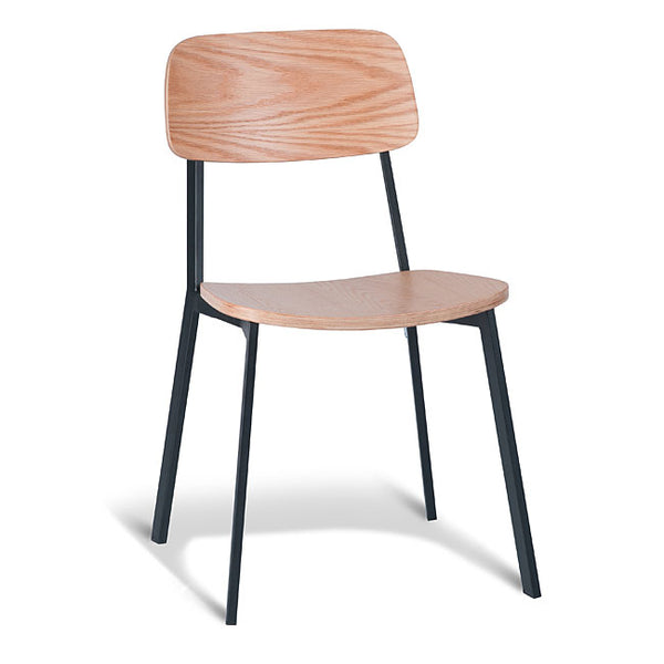 Grammar Dining Chair - Oak and Black