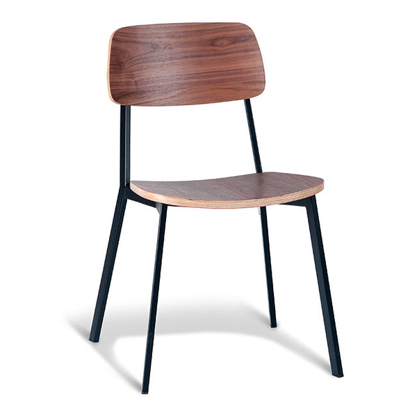 Grammar Dining Chair - Walnut and Black