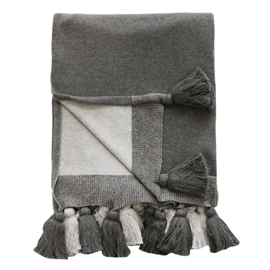 MULBERI Heidi Throw - Grey
