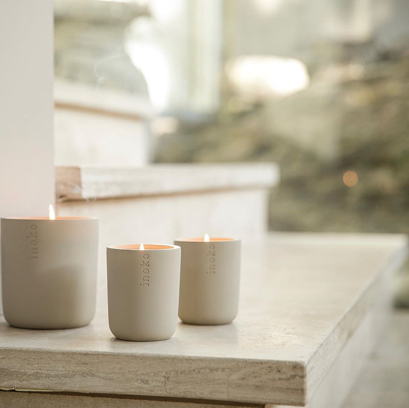 INOKO Concrete Candle Vessel - Small and Large