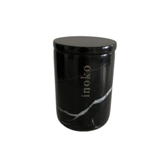 INOKO Candle Vessel Marble Black Small
