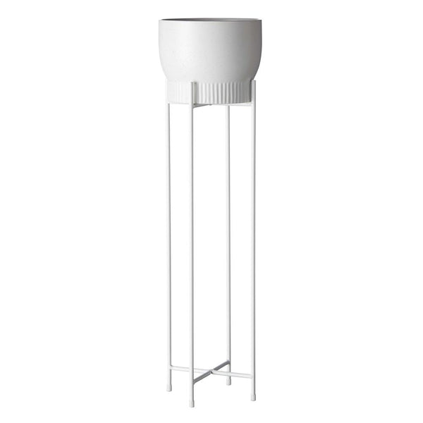 EVERGREEN COLLECTIVE Iris Pot Stand - Tall - White