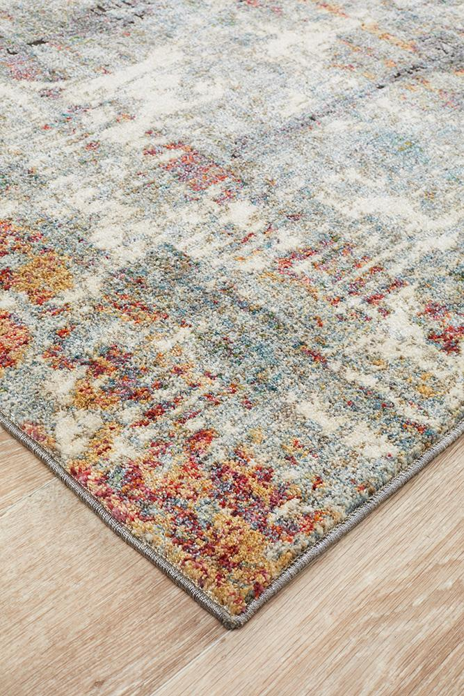 Jabari Transitional Persian Style Floor Rug - Blue 153