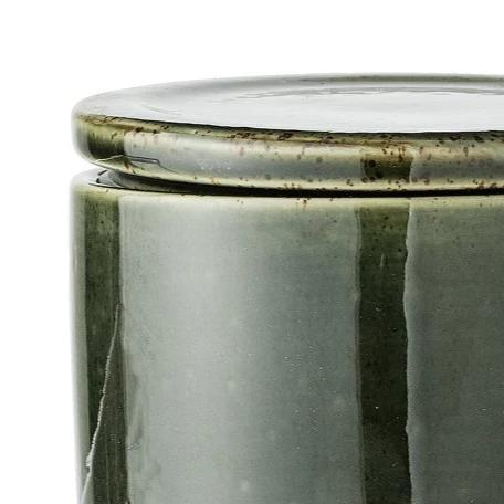 Bloomingville  Joelle Jar with Lid - Green Stoneware