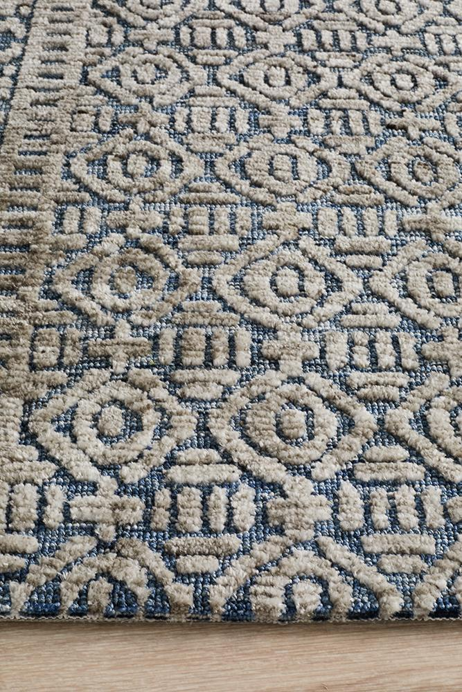 Lahri Navy and Grey Transitional Rug