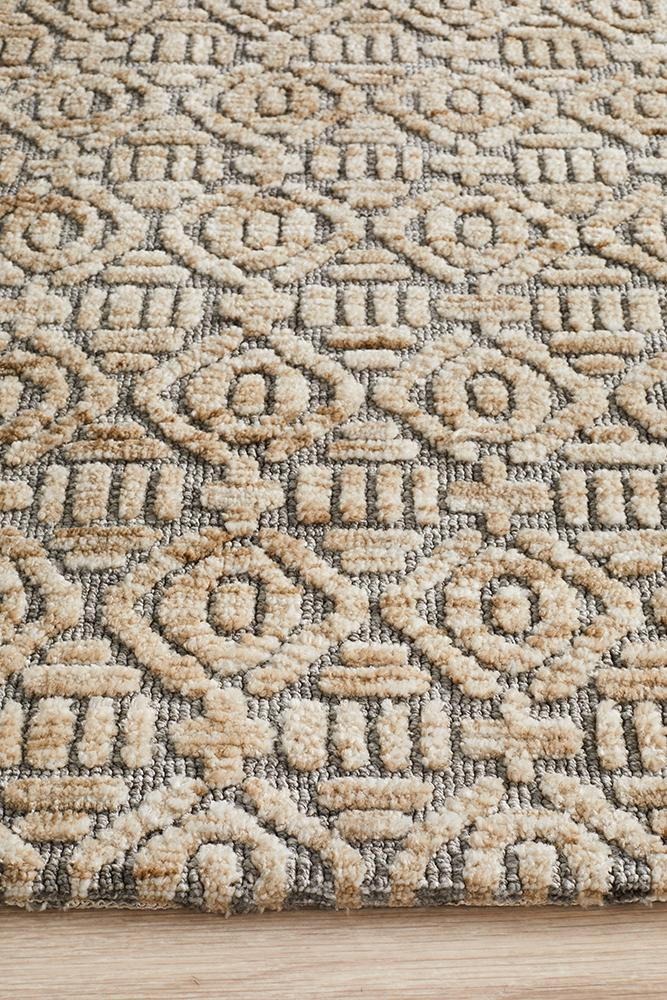 Lahri Natural and Grey Transitional Rug