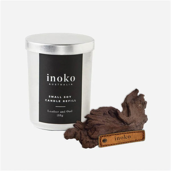 INOKO Soy Candle - Leather and Oud 30hr