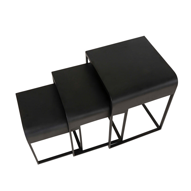 Lexon Nesting Tables - Black Powder Coated Steel