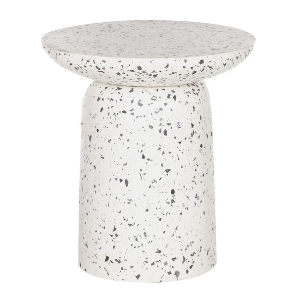 Lucas Terrazzo Side Table  - White