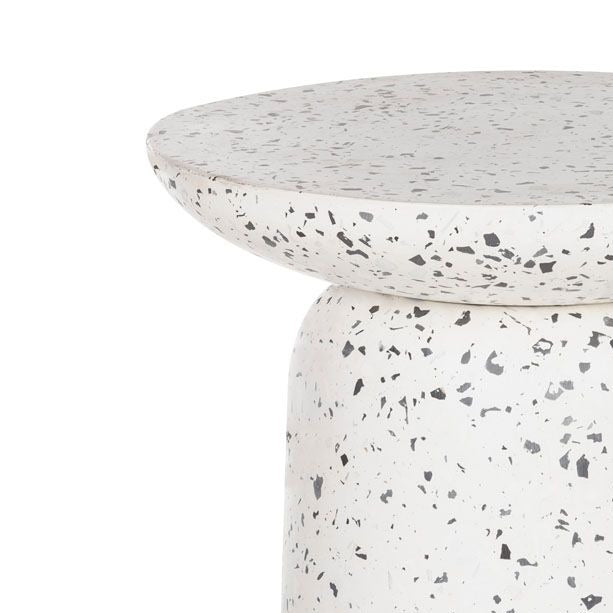 Lucas White Terrazzo Side Table