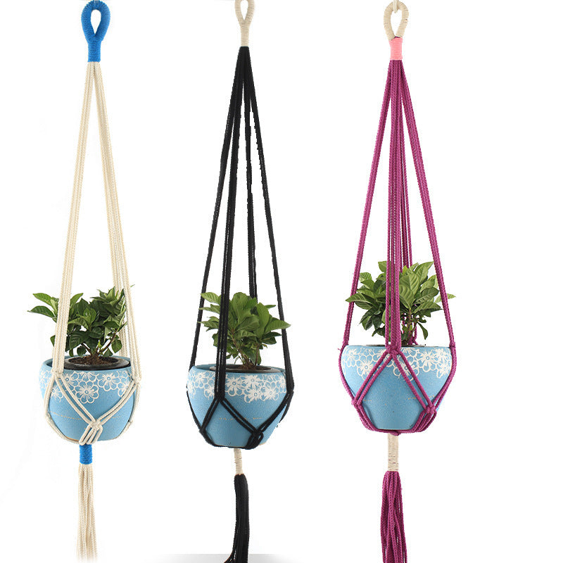 Rodwell and Astor - Macrame Plant Hanger - Two Tone