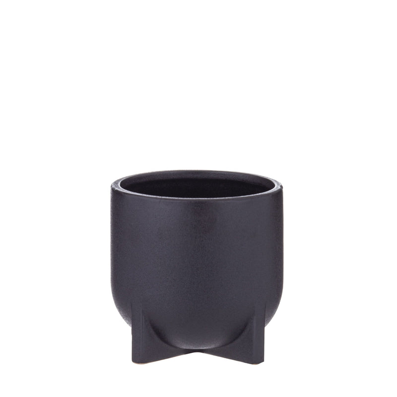 Megan Planter Pot - Black - 12cm Small
