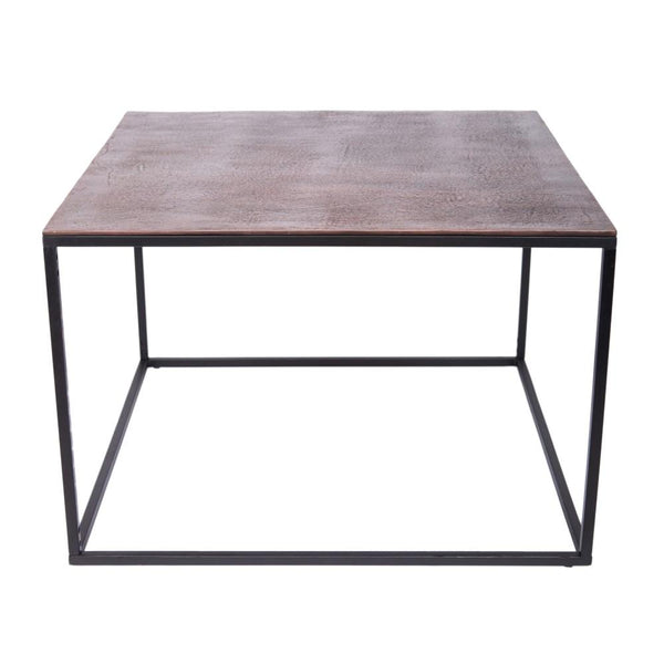 Melrose Square Coffee Table - Copper Top