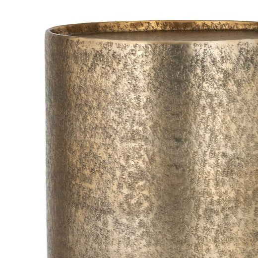 Gold Hammered Metal Side Table