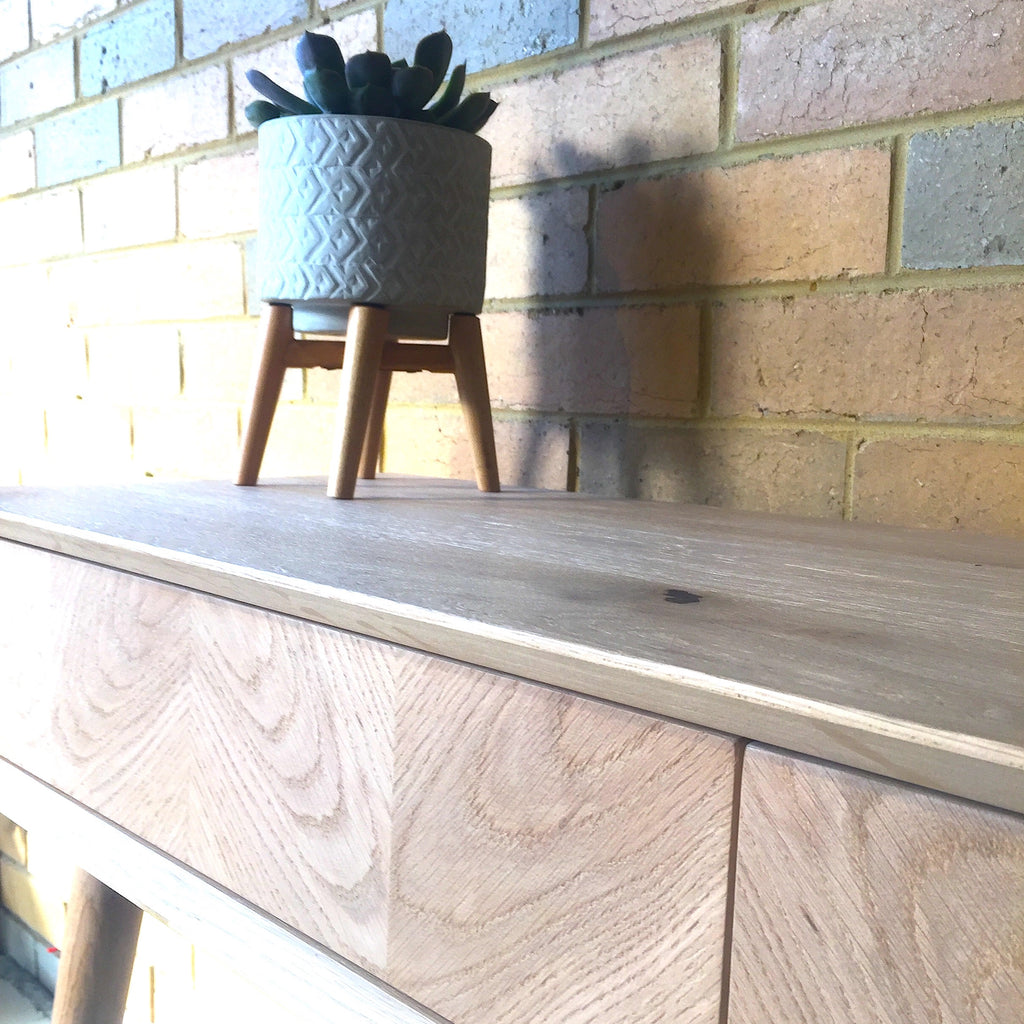 Dania 2 Drawer Console - Oak
