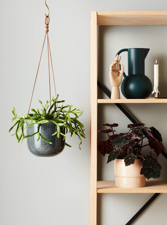 EVERGREEN COLLECTIVE Mio Hanging Pot - Smoke - Medium