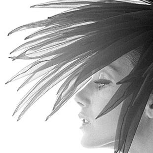 Norman Parkinson Card - Marissa Berenson Feather Hat 1966