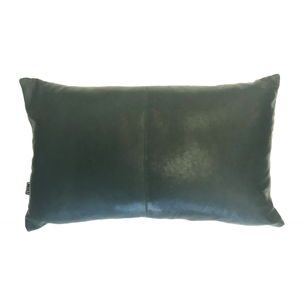 MRD HOME Nappa Leather Cushion - Deep Green