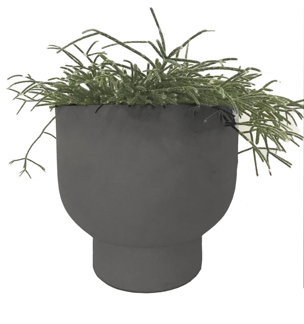 MRD HOME Nell Planter - Dark grey
