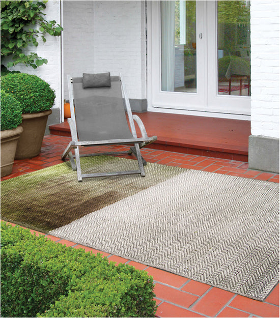 MULBERI Flax Outdoor Rug - Pewter