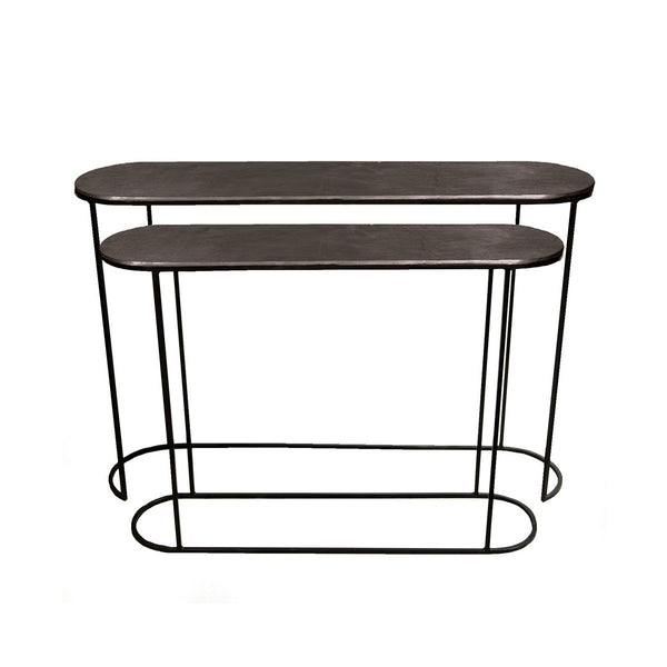 Olivia Steel Console Tables - Set of 2