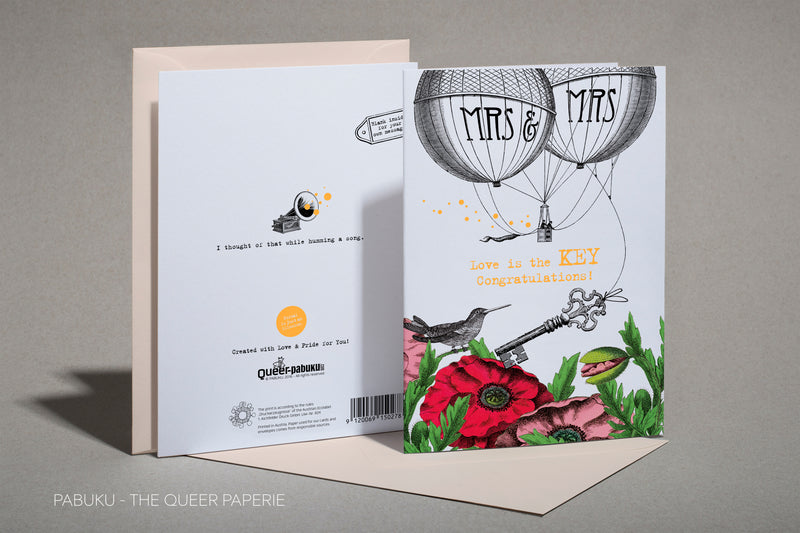 Mrs & Mr - Greeting Card