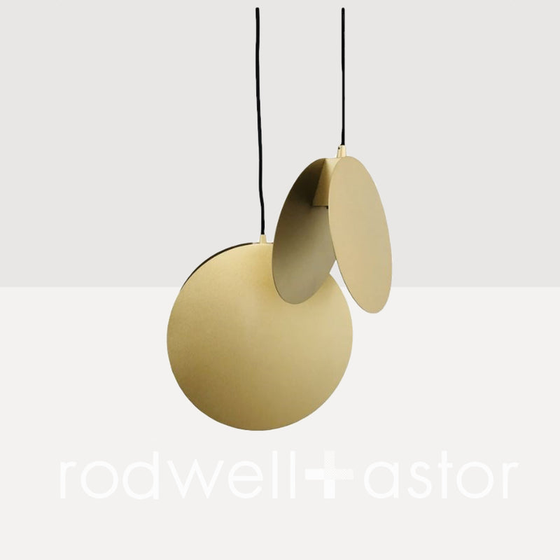 Solaris Satin Brass Pendant Light - Small