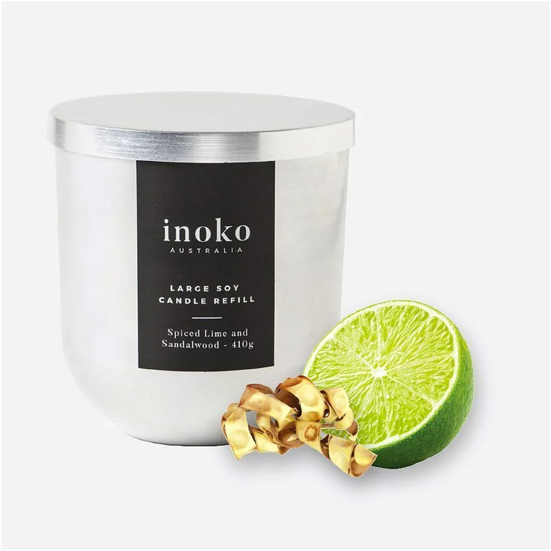 INOKO Soy Candle - Spiced Lime & Sandalwood 80hr