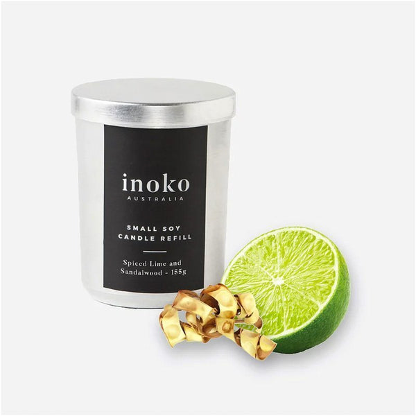 INOKO Soy Candle - Spiced Lime & Sandalwood 30hr
