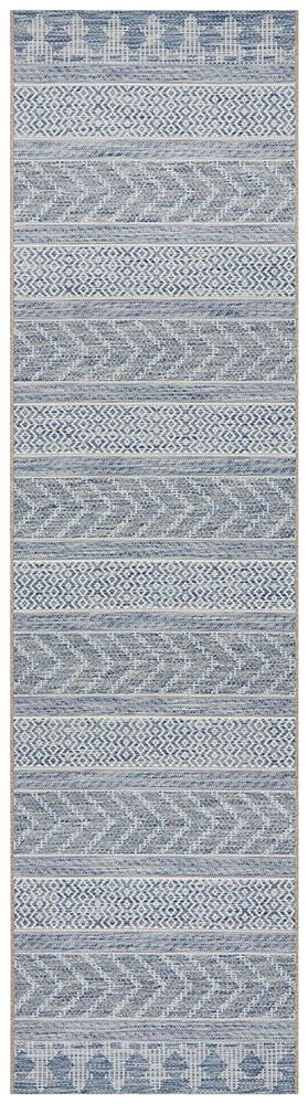 Terrace Braid - Indoor/Outdoor Runner - Blue