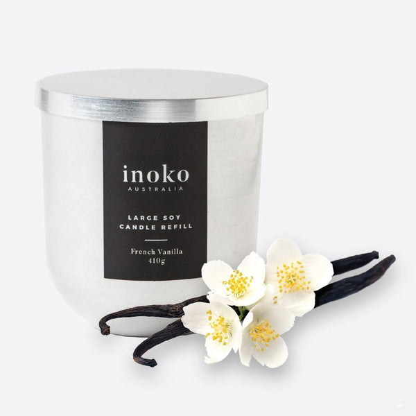 INOKO Soy Candle - Warm Vanilla Wood 80hr